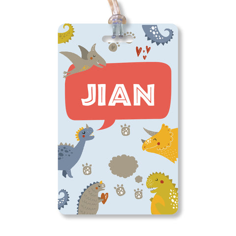 Luggage Tags - Dino, Set of 2