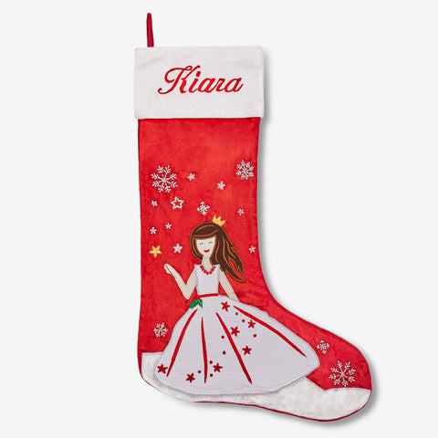 Personalised Luxe Stocking - My Princess (Red Collection)