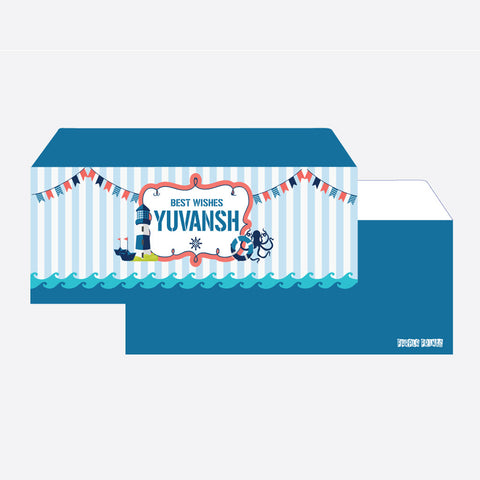 Personalised Envelopes - Nautical, Set of 24