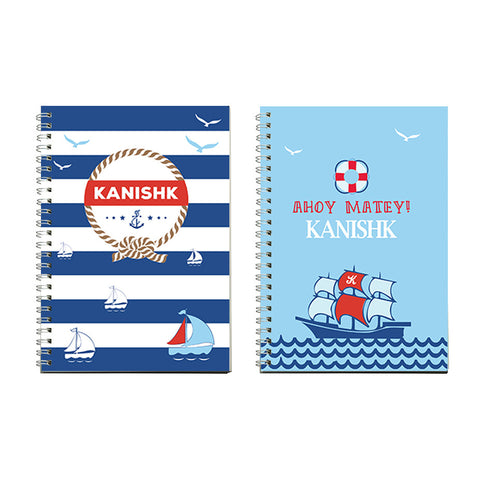 Notebooks, Set of 2<br/>Nautical