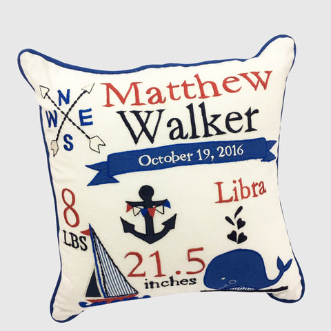 'Nautical' Personalised Pillow