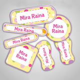 Polka Dot Labels Super Saver Set