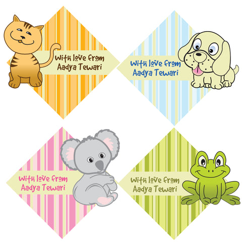 Personalised Gift Stickers - Pet Shop, Set of 60