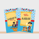 Personalised Notebooks - Pirate, Set of 2
