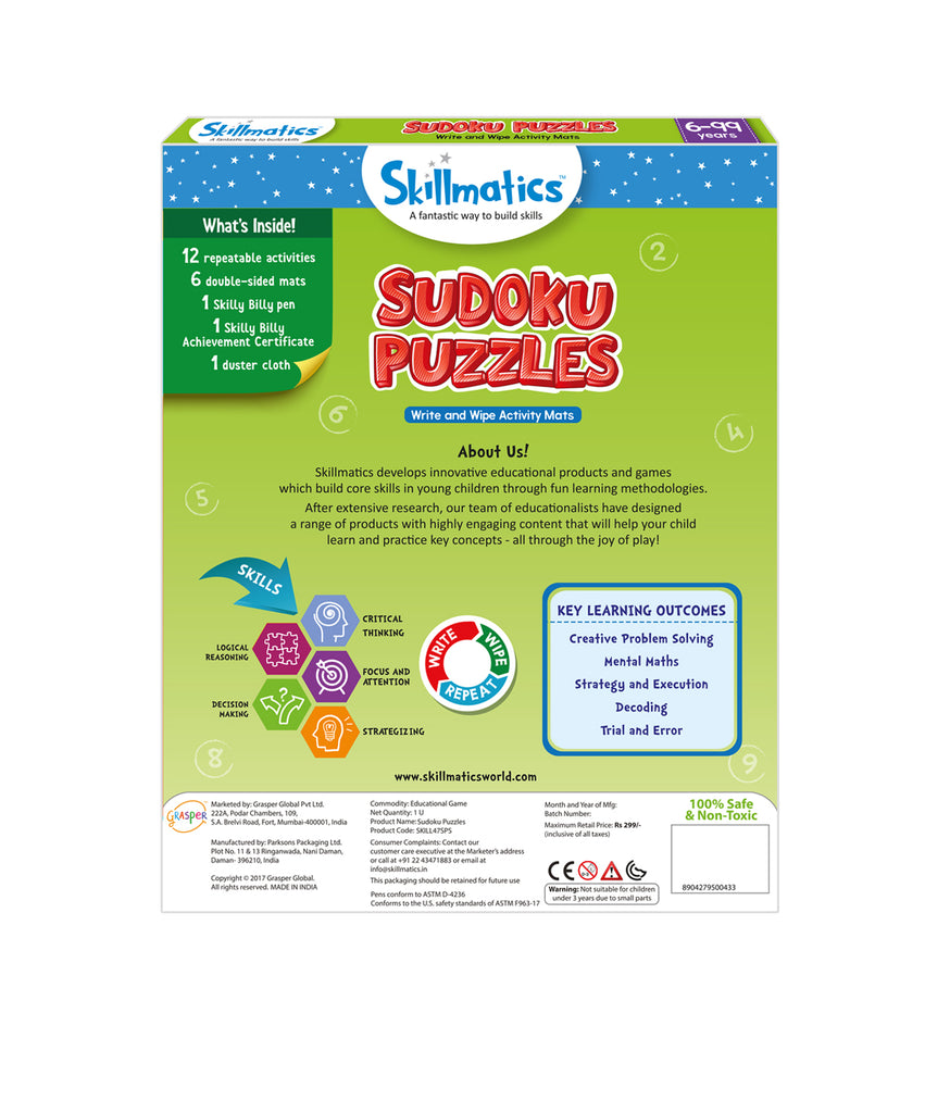 Skillmatics Educational Game - Sudoku Puzzles