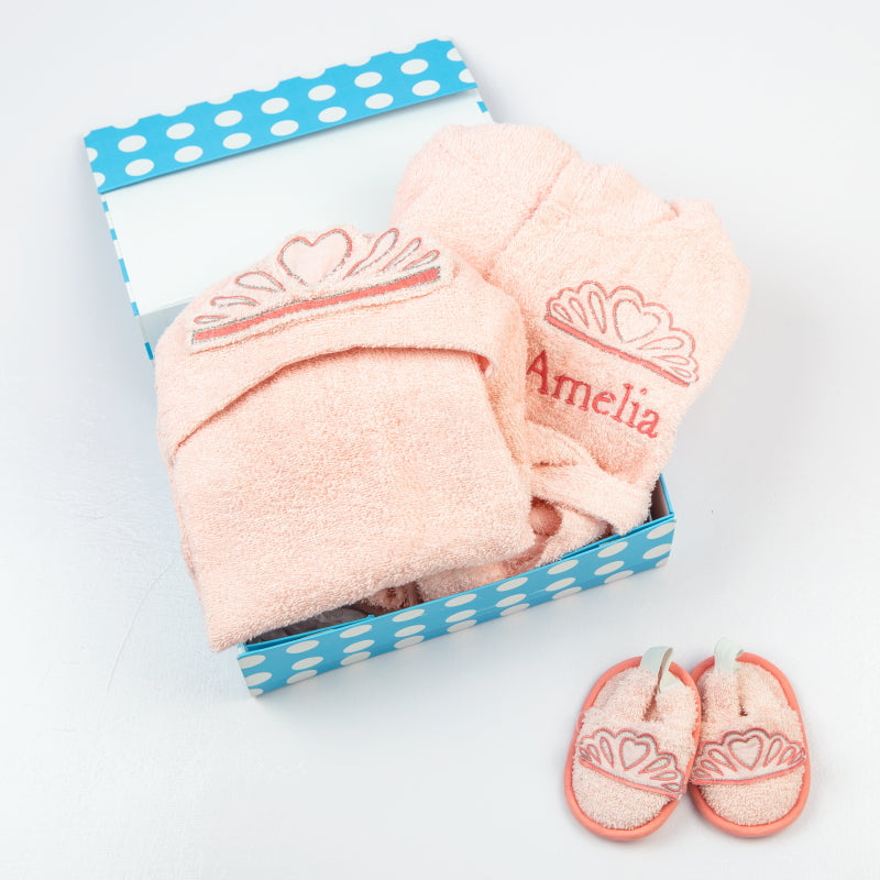 """Spa Time"" New Born Gift Set (Princess) with Hooded Towel"