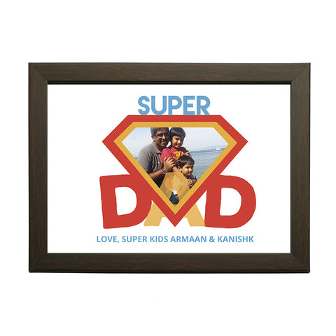 """Super Dad"" Personalised Photo Frame"