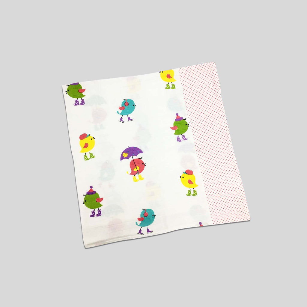 Tweetie Pie Muslin Swaddle Cloth