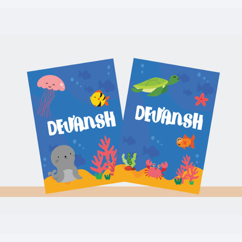 Personalised Notebooks - Underwater, Set of 2