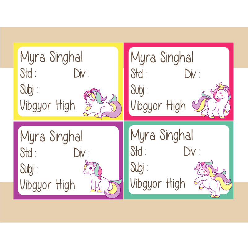 Personalised School Book Labels Back To School My Baby