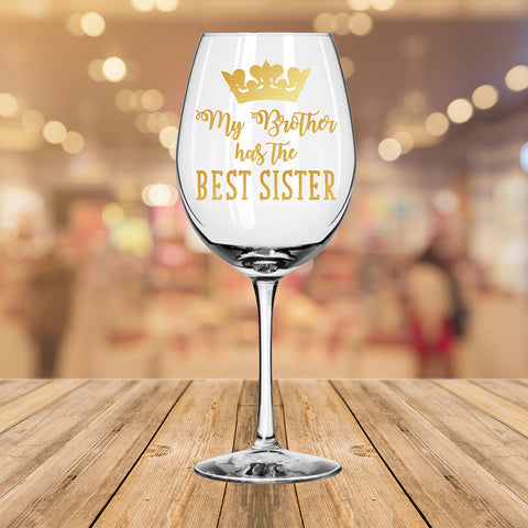 Best Sister Wine Glass