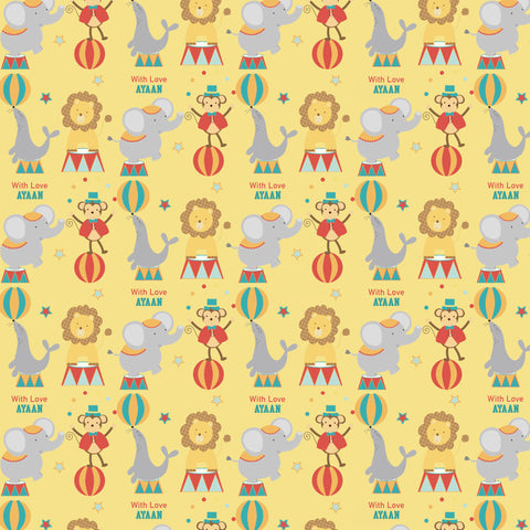 "Personalised Wrapping Paper 19 x 26.5"" - Circus Circus, Set of 10"