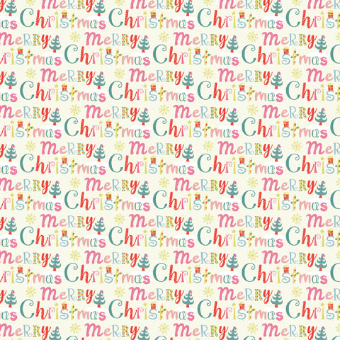 "Wrapping Paper 19 x 26.5"" - Merry Christmas, Set of 5"
