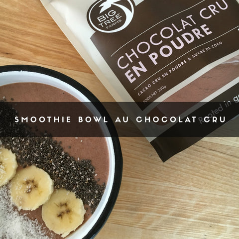 smoothie bowl au chocolat cru big tree farms par kelapa