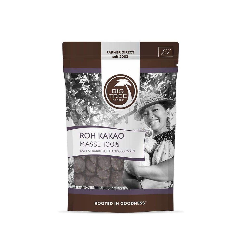 Masse de Cacao Cru Big Tree Farms 100g - Supradelic vue du sachet face