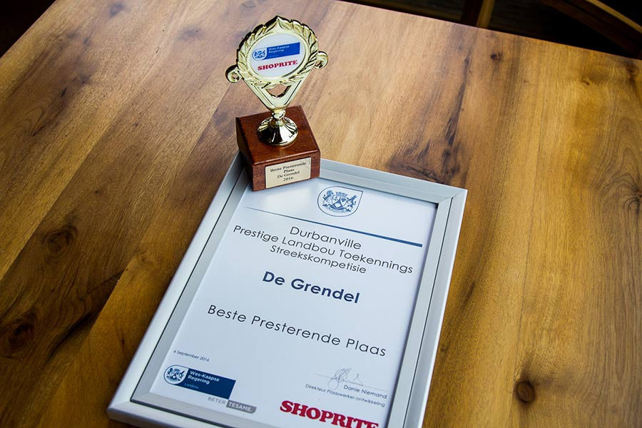 De Grendel Receives 5 Awards at the Western Cape Farm Worker of the Year Competition