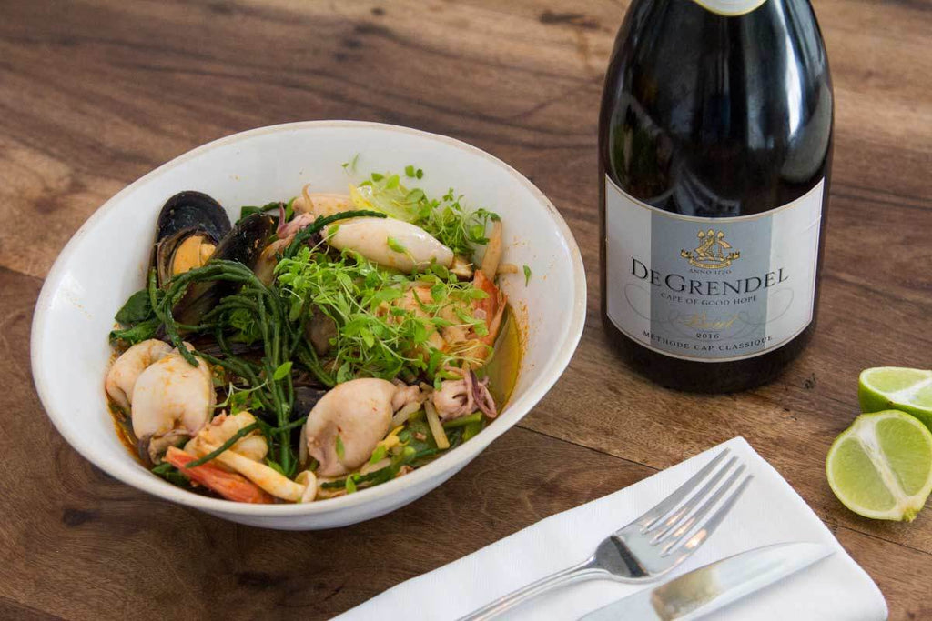 Tom Yum Soup with De Grendel MCC Brut