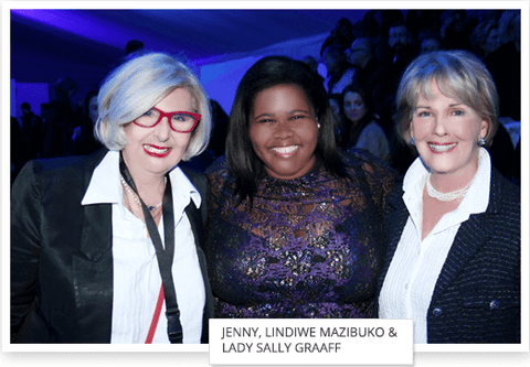 Jenny Le Roux of Habits, Lindiwe Mazibuko & Lady Sally Graaff