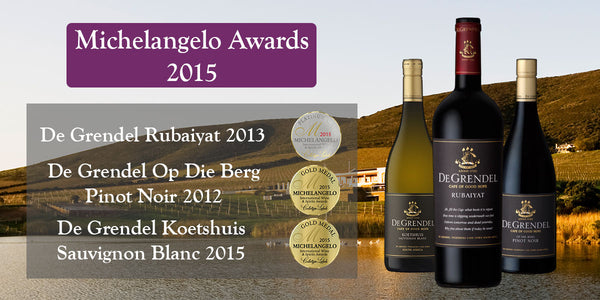 De Grendel Michelangelo Awards 2015