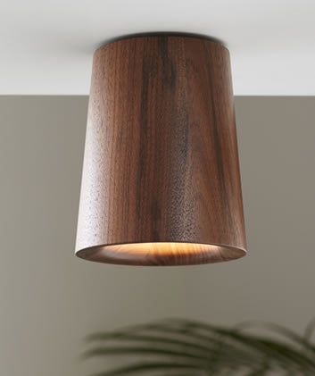Solid - Walnut Downlight — Cone