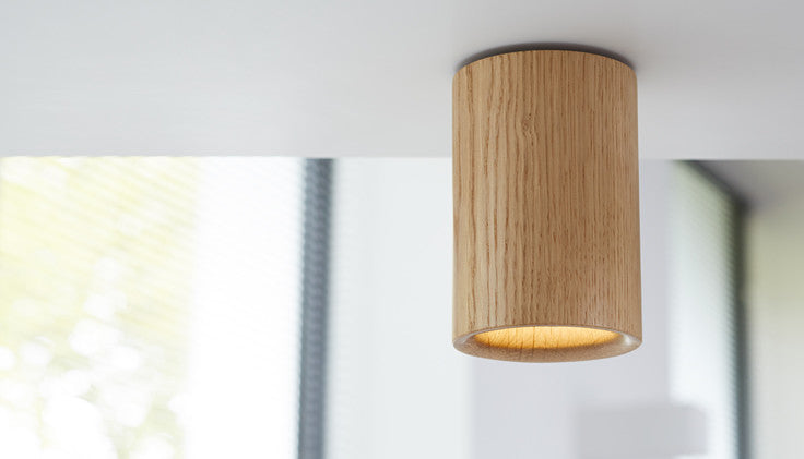 Solid - Natural Oak Downlight — Cylinder