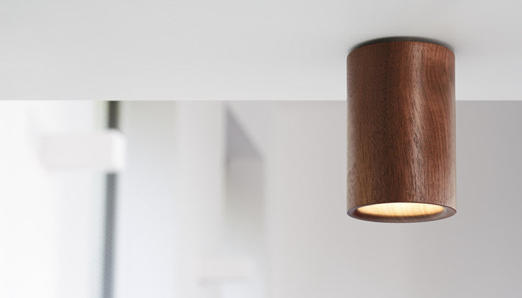 Solid - Walnut Downlight — Cylinder