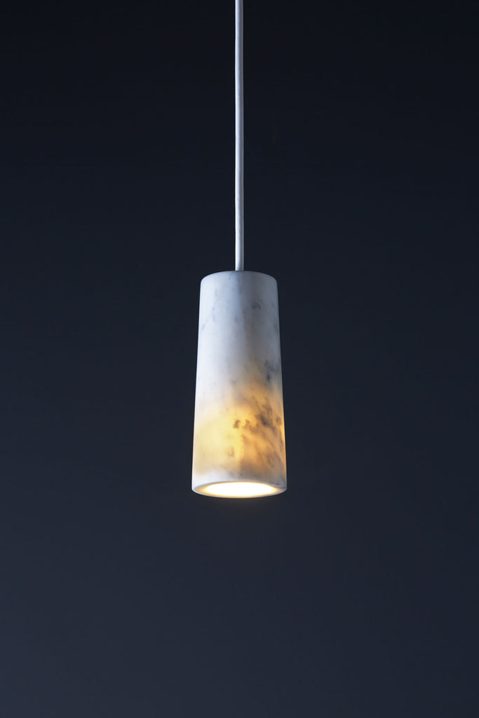 Core - Carrara Marble Single Pendant