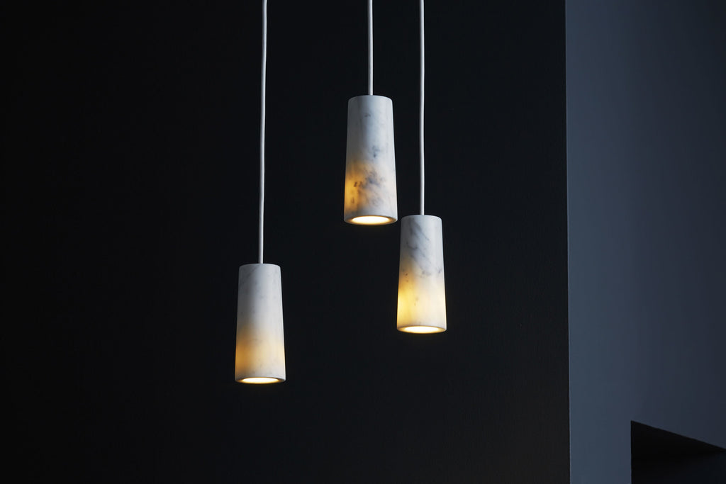 Core - Carrara Marble Three Pendant Cluster