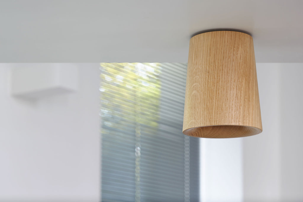 Solid - Natural Oak Downlight — Cone