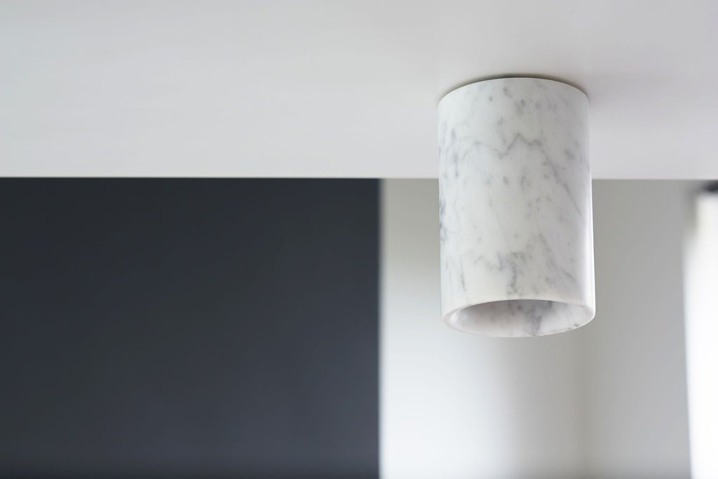 Solid - Carrara Marble Downlight — Cylinder