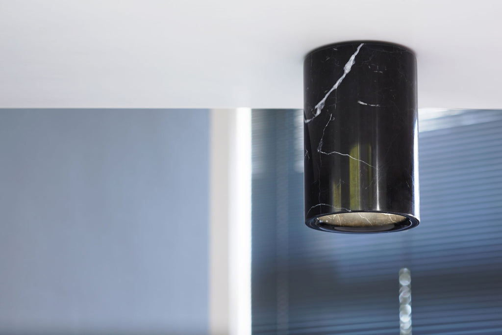 Solid - Nero Marquina Marble Downlight — Cylinder