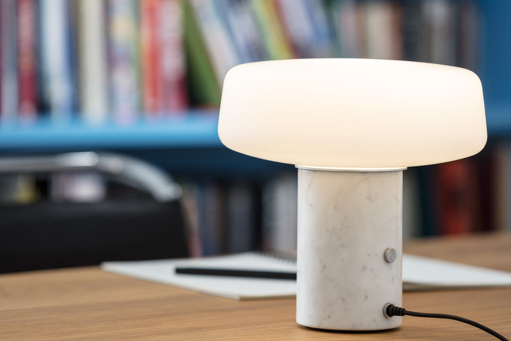 Solid Table Light - Small - Carrara Marble