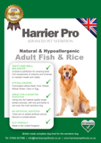 Natural and Hypoallergenic Fish and Rice Adult Dog Food - Harrier Pro Pet Foods.co.uk