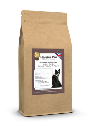 Grain Free Pork, Sweet Potato and Apple Adult Dog Food - HarrierProPetFoods.co.uk