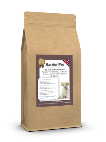 Grain Free Chicken, Sweet Potato, Carrots and Peas Puppy Food - HarrierProPetFoods.co.uk