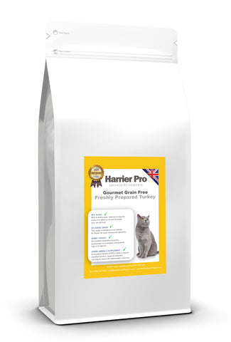 Grain Free Fresh Turkey Adult Cat Food - HarrierProPetFoods.co.uk