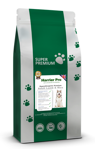 Hypoallergenic Lamb and Rice Adult Dog Food - Harrier Pro Pet Foods.co.uk