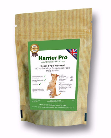Grain Free (80% Freshly Prepared Fish) Dog Treats (25 x 100g). Only £40.49. Harrier Pro Pet Foods