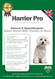 Dry Natural and Hypoallergenic Turkey and Rice Small Breed Adult Dog Food - Harrier Pro Pet Foods.co.uk