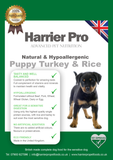 Natural & Hypoallergenic Turkey & Rice Puppy Food - Harrier Pro Pet Foods.co.uk