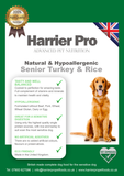 Natural & Hypoallergenic Turkey & Rice Senior Light Dog Food - Harrier Pro Pet Foods.co.uk