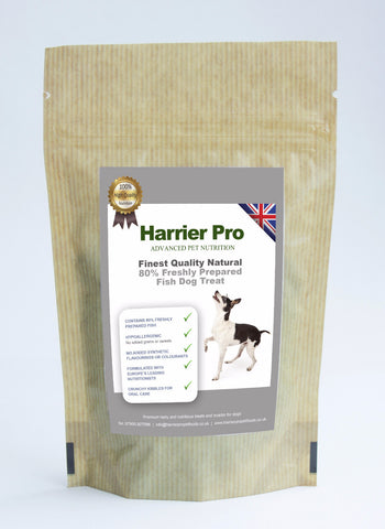 Natural (80% Freshly Prepared Fish) Dog Treats (16x500g). Only £48.99. RRP £69.99 Harrier Pro Pet Foods