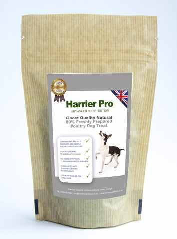 Natural (80% Freshly Prepared Poultry) Dog Treats (16 x 500g). From only £48.99. RRP £69.99 Harrier Pro Pet Foods