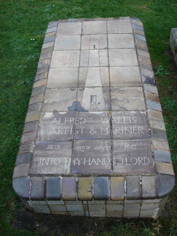 Alfred Wallis' grave, in Barnoon cemetry. St.Ives Cornwall
