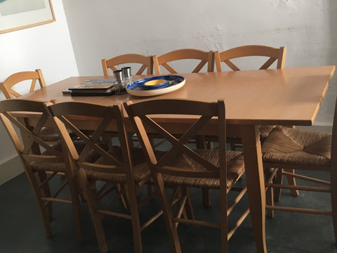 Dining table for 8