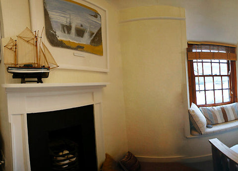alfred wallis bedroom in his cottage in st.ives cornwall