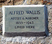 Alfred Wallis plaque on cottage placed by Ben Nicholson