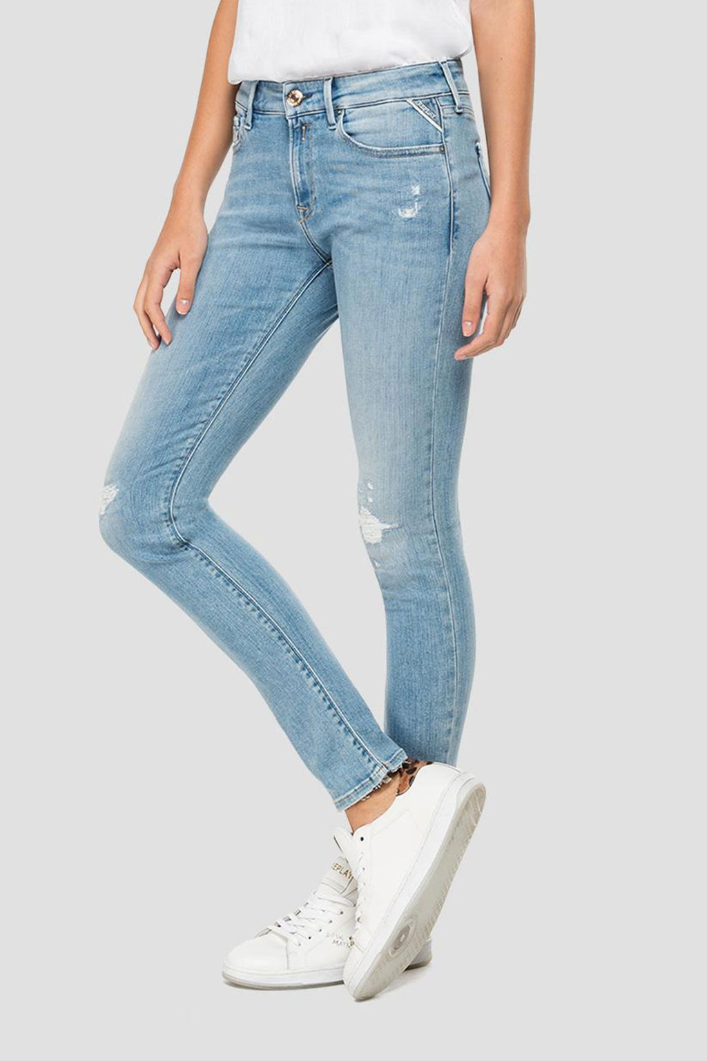 Replay Skinny High Waist Fit New Luz Jeans-Libas Trendy Fashion Store