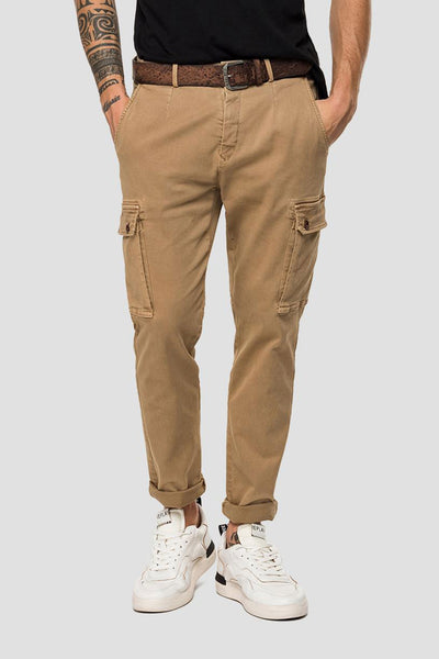 Replay Slim Fit Jaan Hyperflex Kargo Pantolon-Libas Trendy Fashion Store