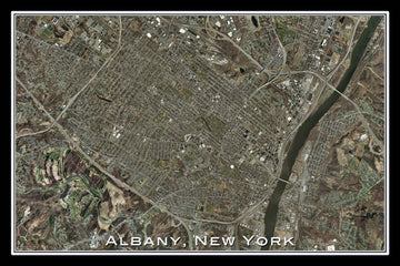 Albany New York Satellite Poster Map - TerraPrints.com